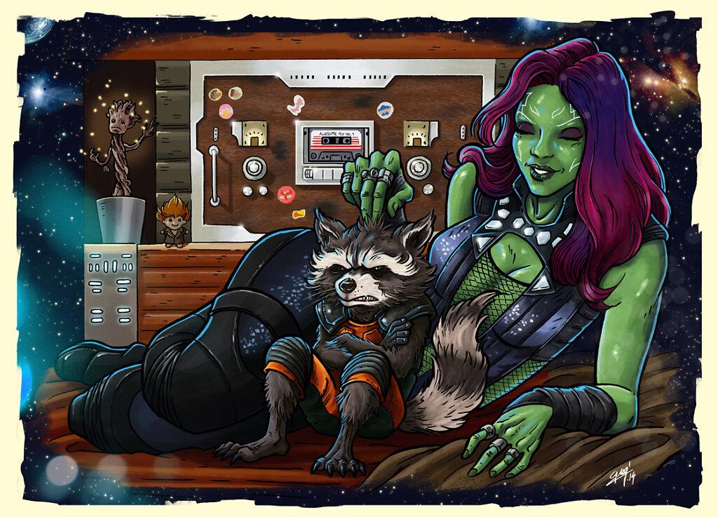 Gamora & Rocket
